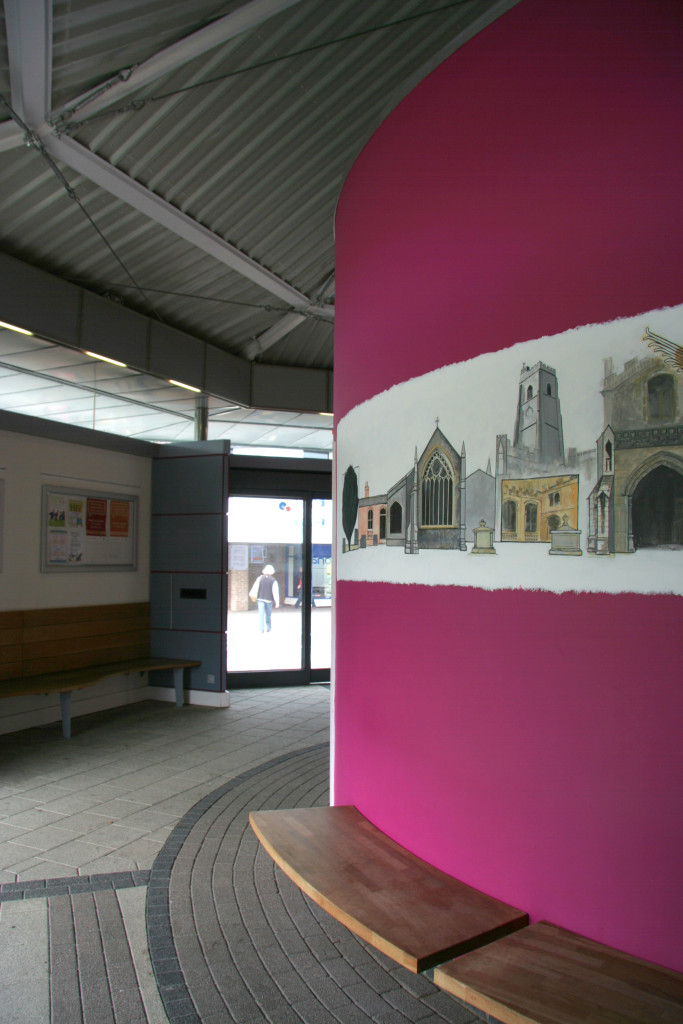 Octagonal bus station in mildenhall kj architects for Ads architectural design services