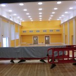 The Hall Almost Completed - View Looking Back From Entrance