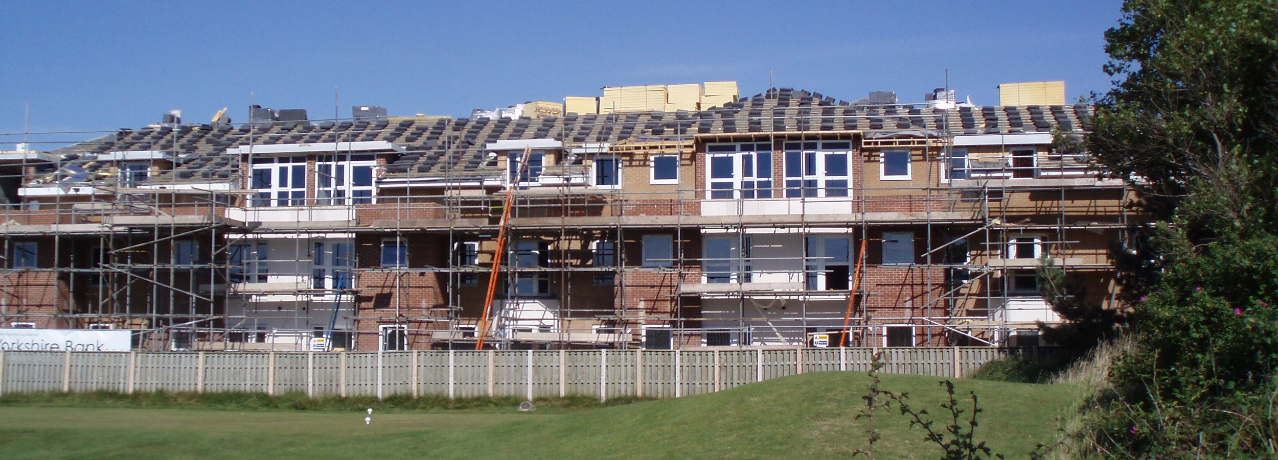 Supported housing being built